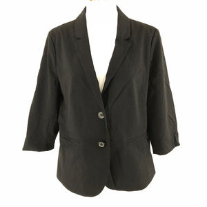 Frenchi Womens Blazer Jacket 3/4 Sleeve One Button